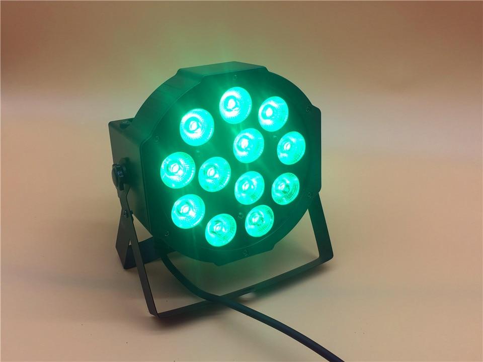 CREE RGBWA UV 12x18 W LED plano SlimPar Quad Luce 6 en 1 LED DJ, luz de escenario de lavado dmx luce de la lámpara 6/10 channes