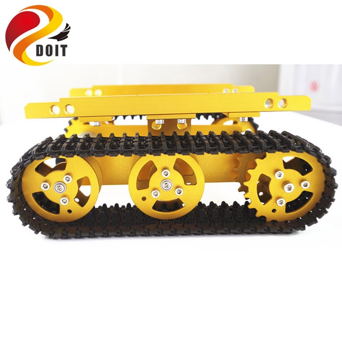 Original DOIT Robot Tank Car Chassis Smart Obstacle-surmounting Crawler Motor with Hall Sensor Crawler Track Tracked Vehicle Toy enlarge