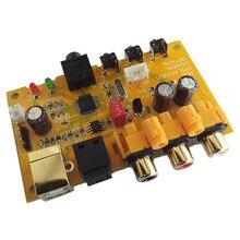 CM108 ordinateur USB 2.0 DAC carte décodeur prise en charge Fiber coaxiale numérique AC3 DTS 5.1 canal de sortie et format APE FLAC