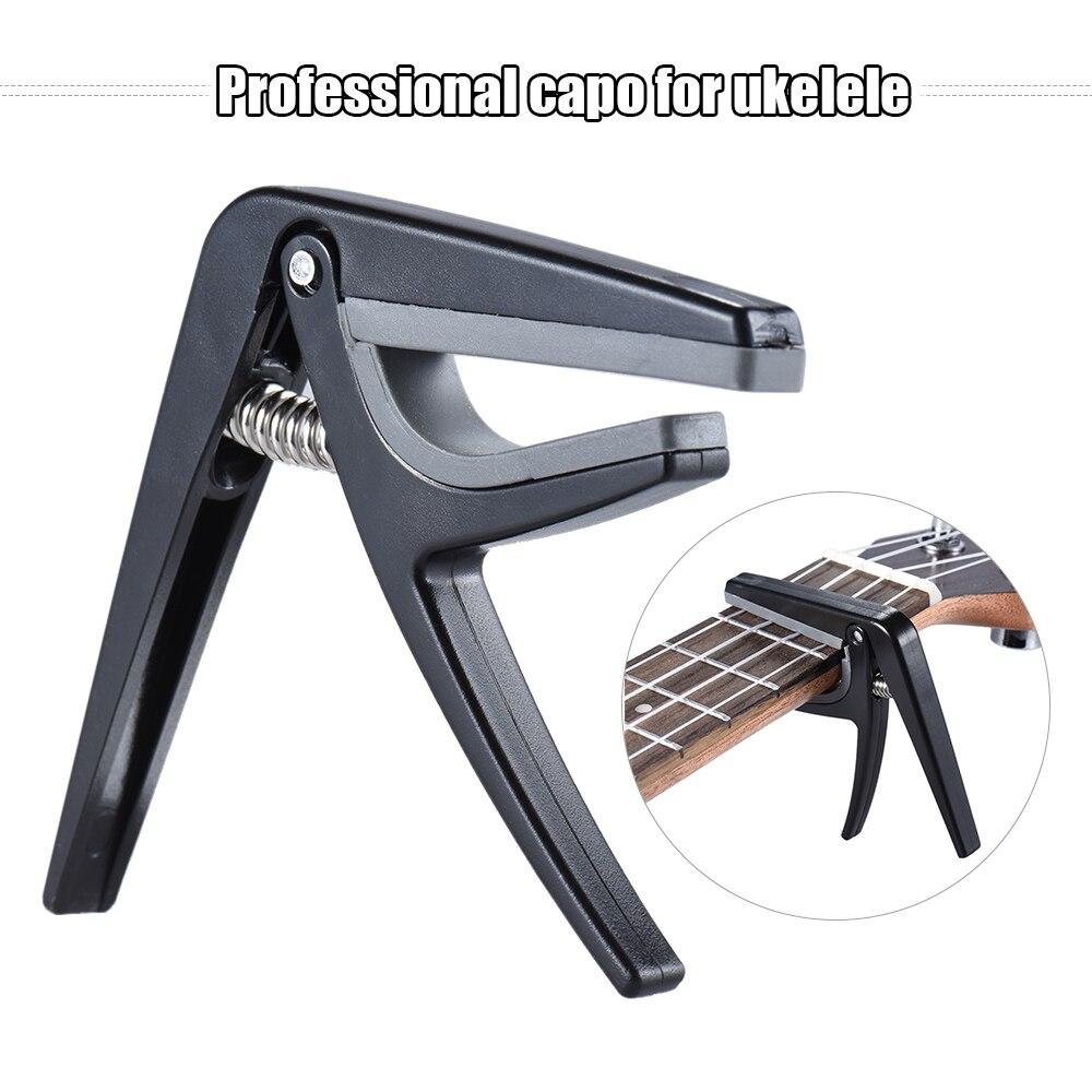 Professional Single-handed Quick Change Ukelele Capo Plastic Steel Black Guitar Capo Electric Guitar Accessories