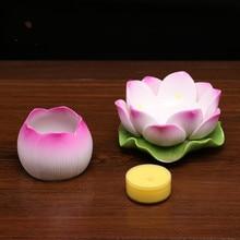 Buddhist utensils ceramic lotus candlestick Buddha headlamp for Buddha pastry lamp lotus lantern holder candlestick LM5251605py
