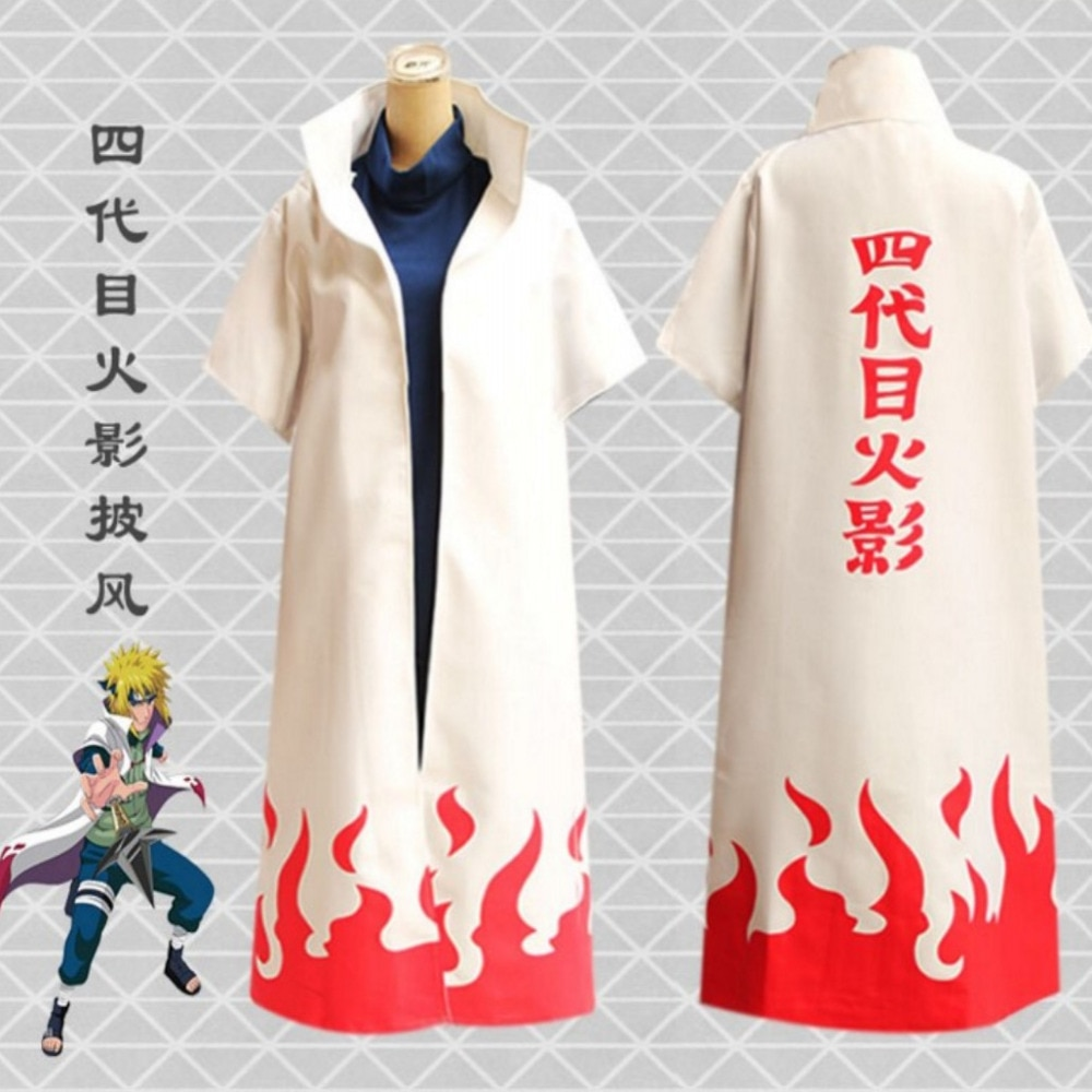 Japão anime naruto yondaime hokage manto branco poeira casaco cosplay traje adulto festa de halloween roupas