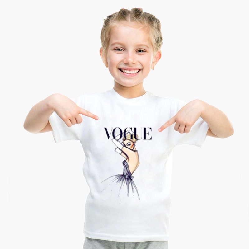 DERMSPE verano moda niños manga corta adorable algodón dibujos animados niños niñas Tee Outfit divertido estampado Casual niño niños camiseta