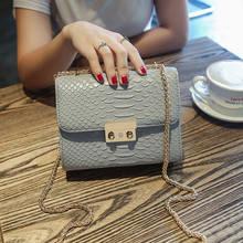 Ainvoev 작은 가방 여성 악어 악어 가죽 미니 가방 여성 간단한 핸드백 체인 메신저 숄더 백 클러치 dl3002