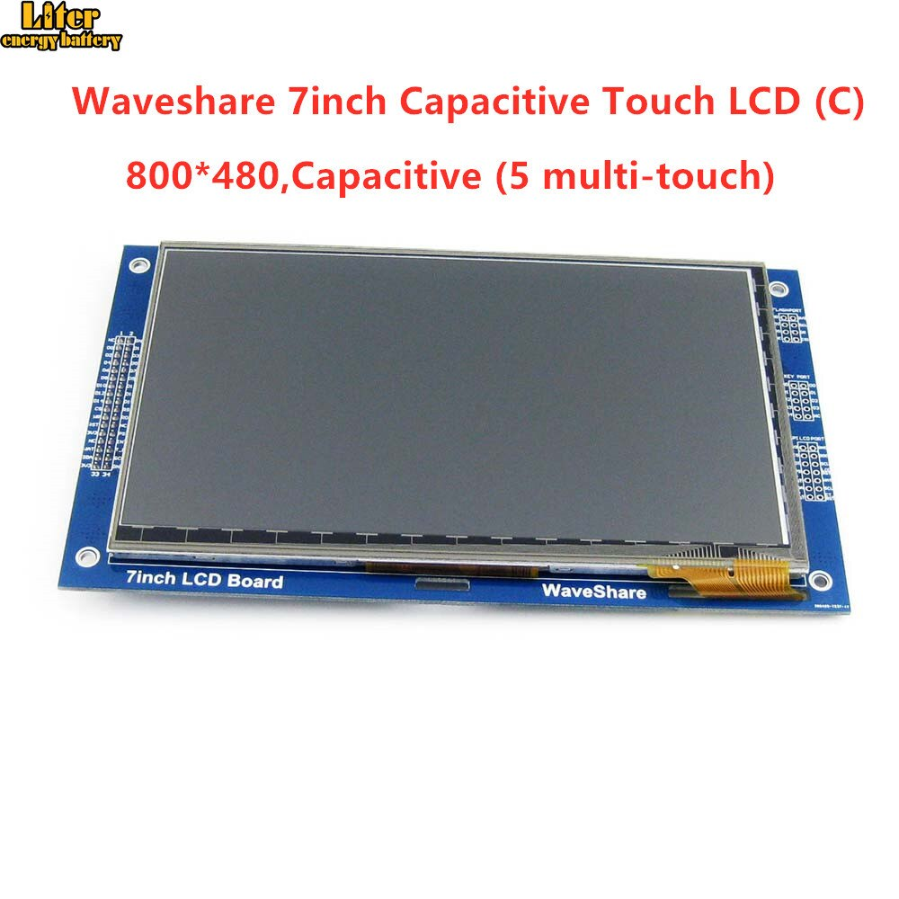 LCD táctil capacitiva de 7 pulgadas (C) 800*480 píxeles LCD gráfico Multicolor, TFT I2C módulo visualización de pantalla táctil incrustado 10KB ROM