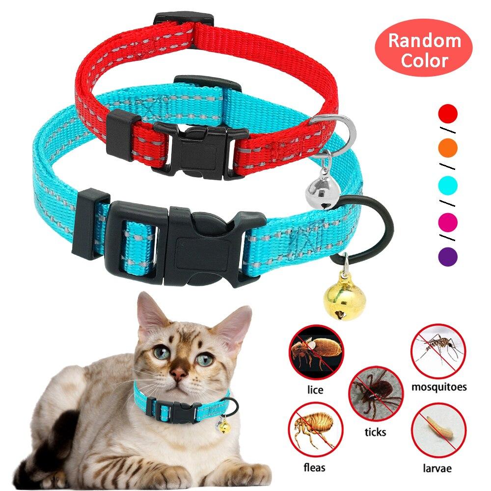 Correa de nailon perro mascota reflectante gato conejo cuello Anti collar antipulgas collares de Control de pulgas para perros gato protección duradera rápida