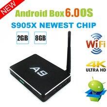 Android TV Box 4K HD Quad Core Amlogic S905x 2G 8G WIFI YouTube Google Cast Netflix IP TV décodeur 1080P H.265 lecteur multimédia