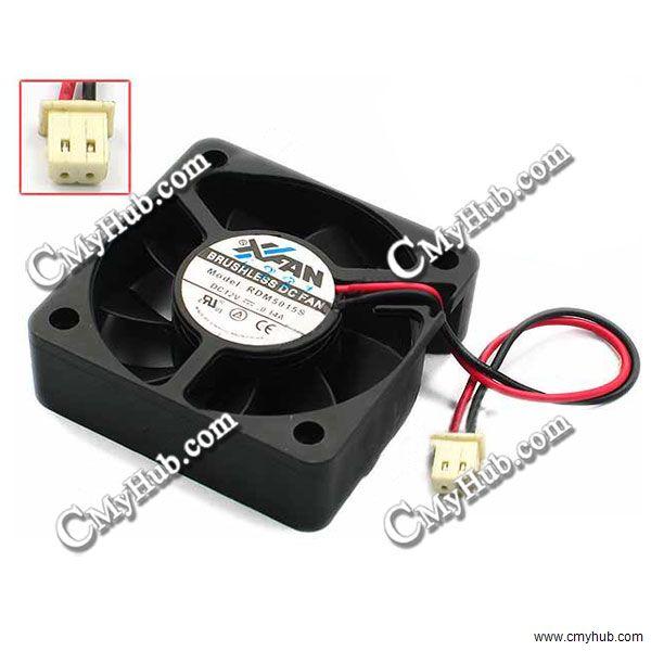 Para Xinruilian RDM5015S DC12V 0.14A 5015 5CM 50mm 50x50x15x15mm 2Pin 2 Alambre de ventilador de refrigeración