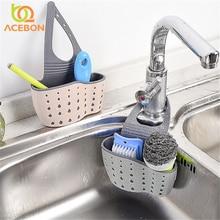 1 PC Tragbaren Korb Home Küche Hängen Drain Korb Tasche Bad Lagerung Werkzeuge Waschbecken Halter Küche Zubehör vaciar cesta ACEBON
