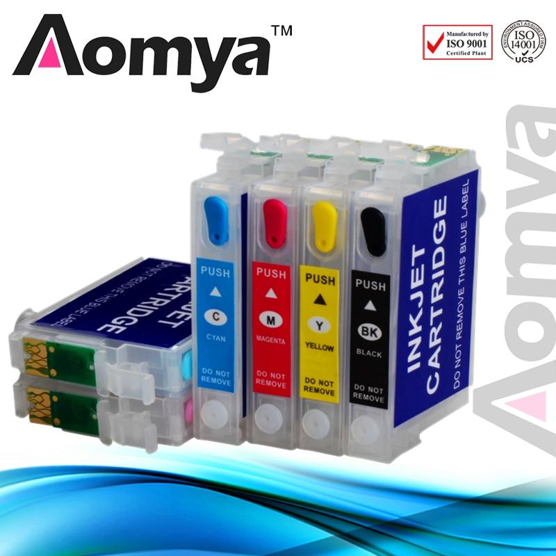 Aomya T0791 cartucho de tinta recargable vacío Compatible con Epson stylus Photo 1400 1500W P50 PX650 PX660 PX700W PX710FW PX720WD