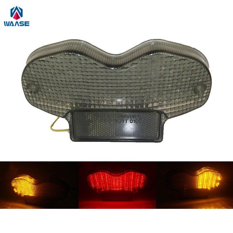 Waase لسوزوكي بانديت 600 GSF600 2000 2001 2002 2003 2004 2005 E-Mark ضوء خلفي للفرامل والانعطاف وشرائط LED مدمجة