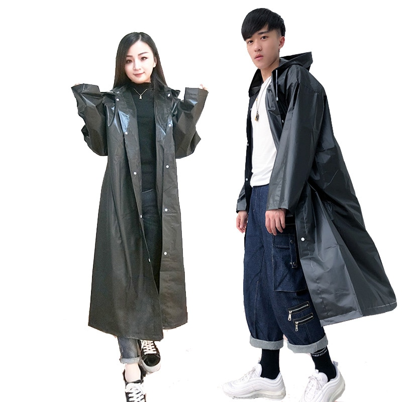 Women and Men Waterproof Raincoat Impermeable Transparent Rain Cover Poncho Coat Not Disposable Hooded Female Rainwear wholesale enlarge