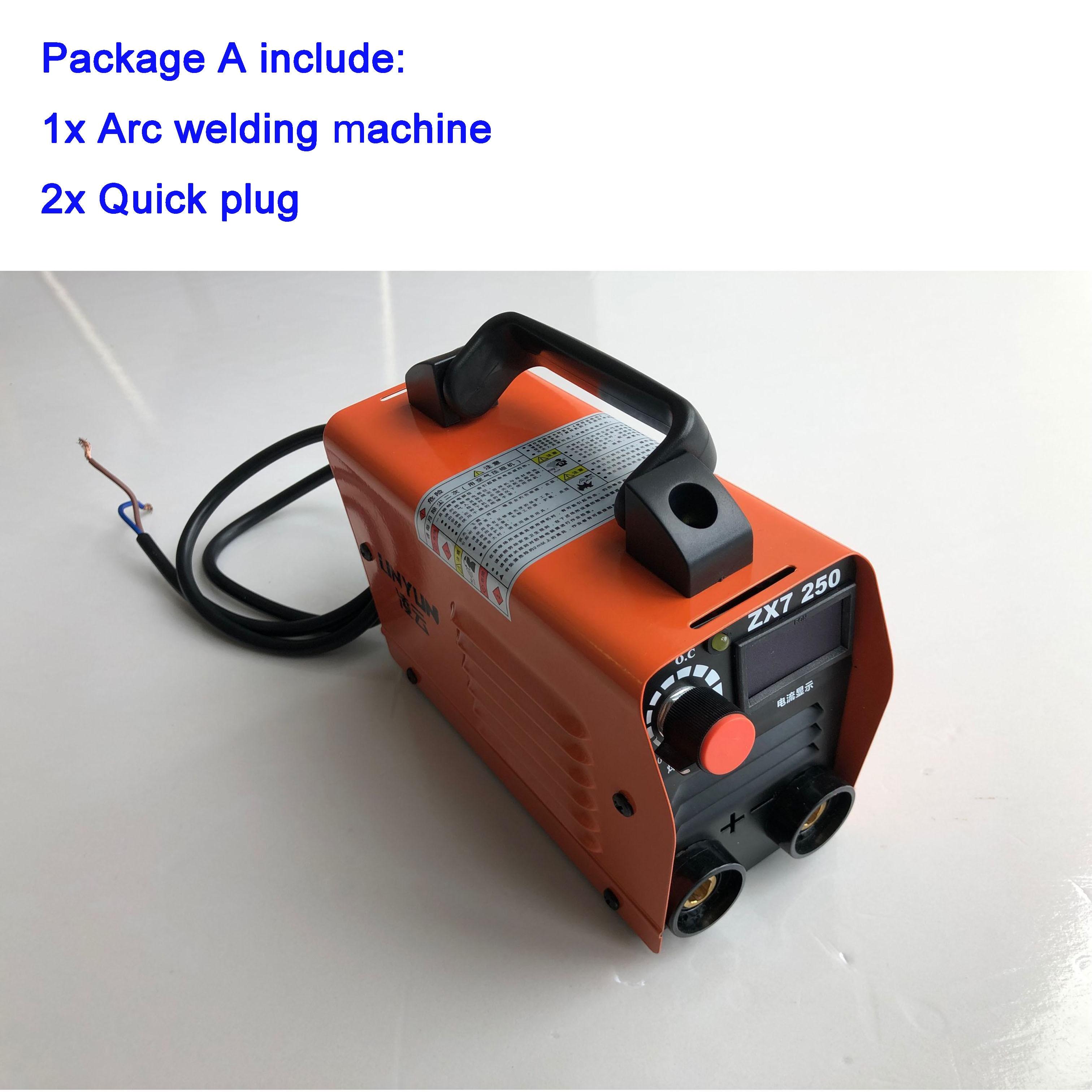 Ru delivery 250A 110-250V Compact Mini MMA Welder Inverter ARC Welding Machine Stick Welder