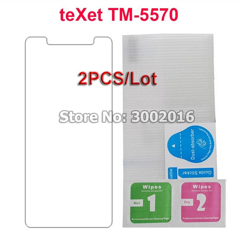 2 piezas para teXet TM-5570 TM5570 TM 5570 vidrio templado a prueba de explosiones Protector de pantalla LCD para teXet TM5570 funda smartphone película