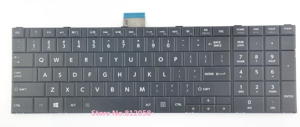 SSEA nuevo teclado del ordenador portátil para Toshiba Satellite C50 C55 C55D serie