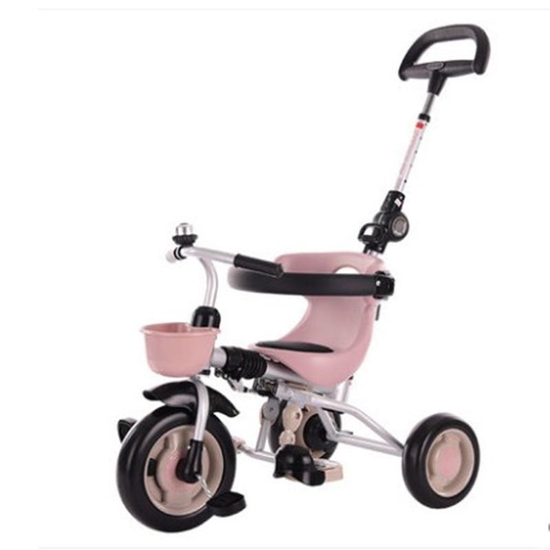 دراجة ثلاثية العجلات قابلة للطي للأطفال من سن 1-3-2-6 سنوات ، عربة أطفال بدواسة ، عربة أطفال ، ألعاب