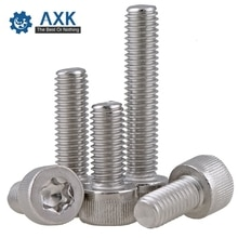 Tornillos Torx de acero inoxidable de 50 unids/lote, cabezal de seguridad M3 M4, servicio eléctrico de alta calidad con acero inoxidable, 5/6/8/10/12/14/16