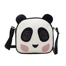 Messenger Bags Crossbody Panda Leuke Pouch Vrouwelijke PU Leer Cartoon Print Schoudertas Rits Mode Tas
