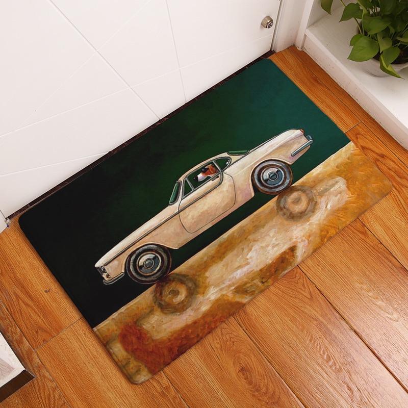 CAMMITEVER colorido dibujos animados coches antiguos sala de estar dormitorio niños alfombra suave escalada bebé Mat decoración del hogar suministro