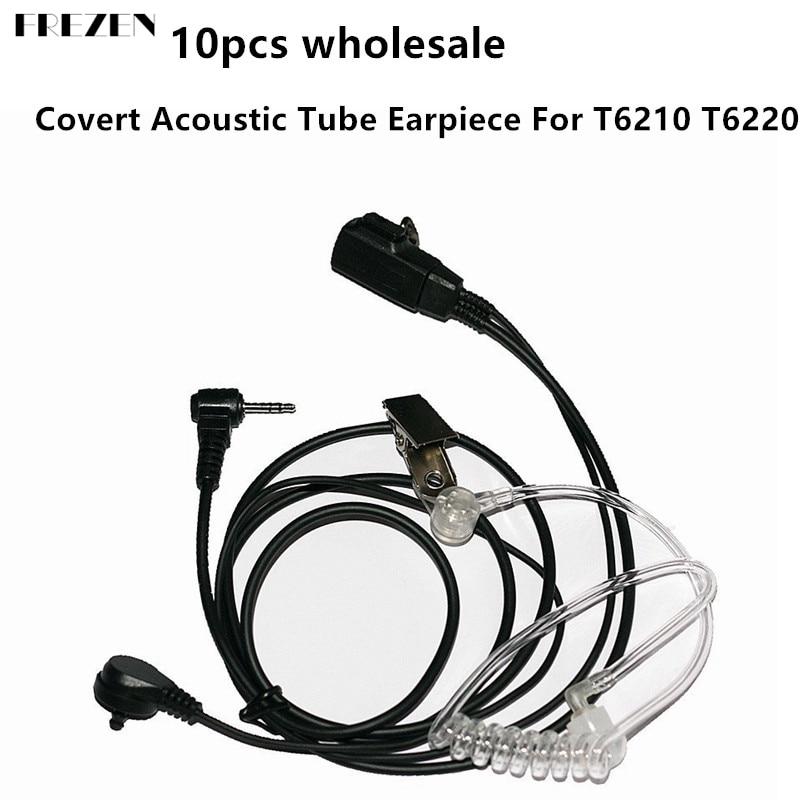 Auriculares de tubo acústico Covert de 10 Uds 1pin al por mayor para Motorola COBRA Talkabout Walkie Talkie T6210 T6220 T6222