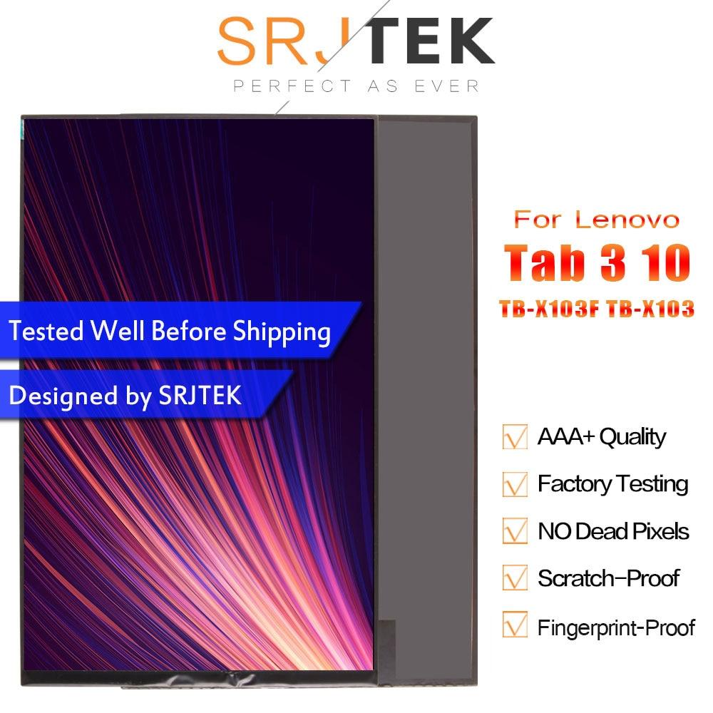 "SRJTEK 10,1 ""LCD para Lenovo Tab 3 10 Plus TB-X103F TB-X103 TB X103 Dsiplay matriz Módulo de Panel de pantalla Tablet reemplazo para PC"