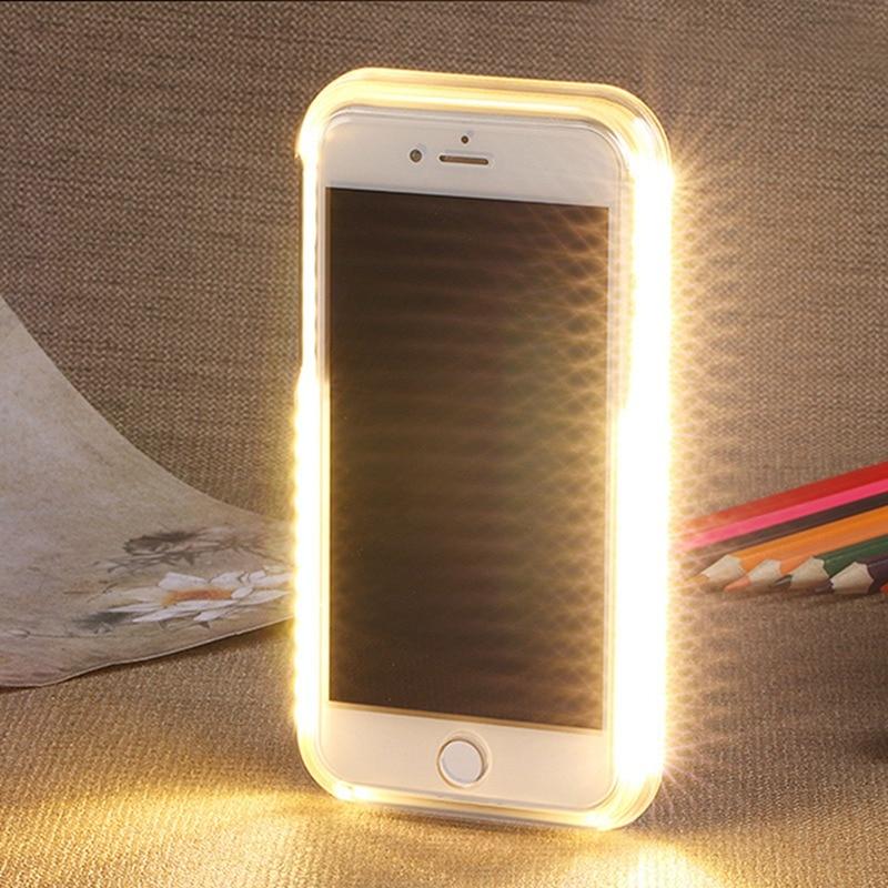 Funda para teléfono Selfie Light para iphone 6 6s 7 8 plus para iphone XS Max XR XS con luces Flash de lujo para iphone 6 6s 7 8X10 cubierta