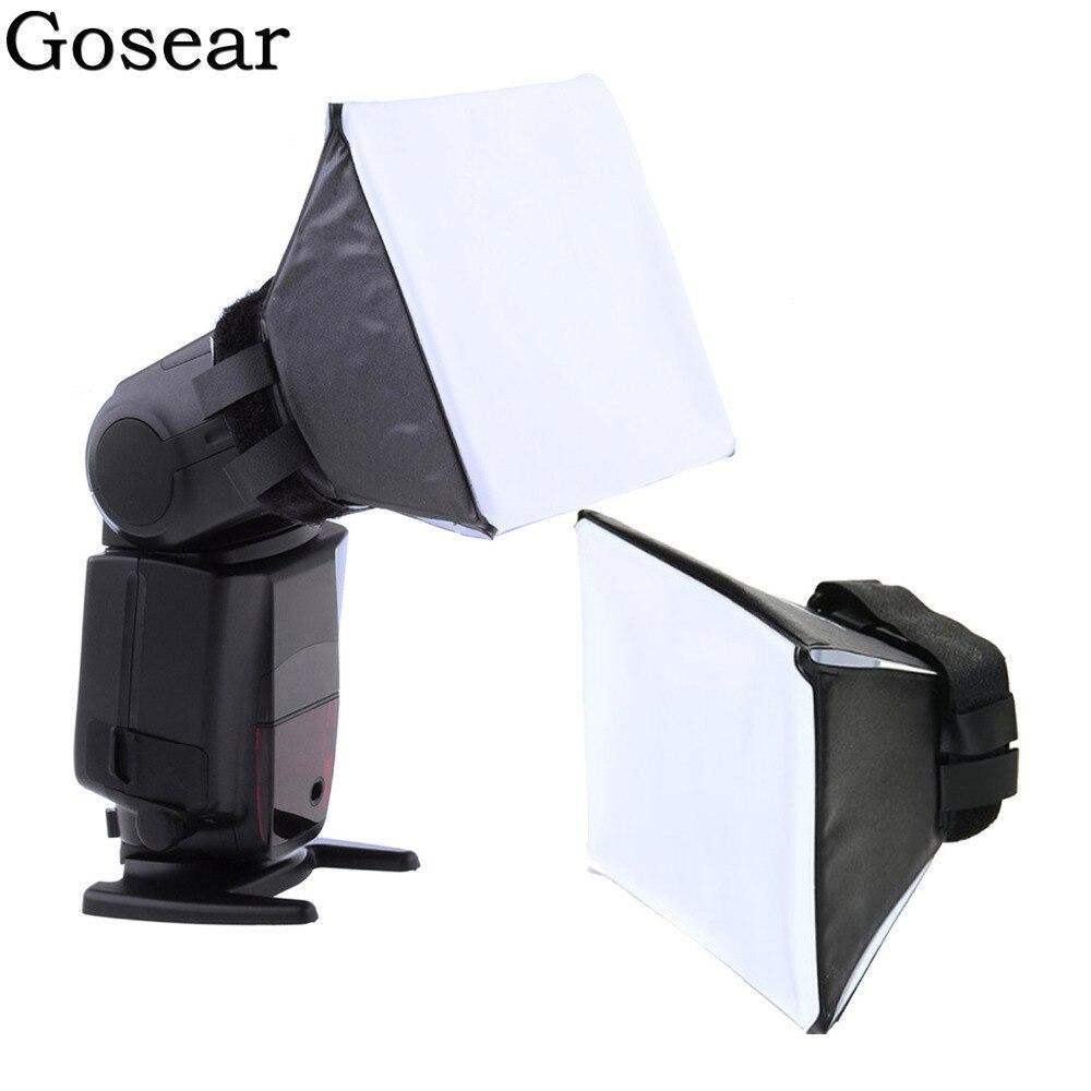 Gosear Universal Photo Difusor Flash Light Diffuser Softbox Soft Box Boxing for Canon Nikon Sony Sigma Pentax Vivitar Camera