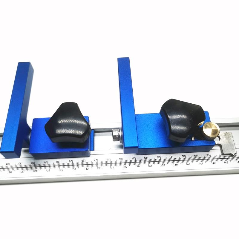 30 type 45 type travail du bois t-track outil de travail du bois darrêt de voie donglet Standard pour établi de travail du bois