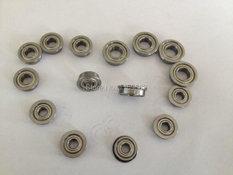 5*10*4MM 5*10*4 MM MF105ZZ MF105Z MF105 Z MF105 ZZ MF105-ZZ 5X10X4MM High speed & Low noisy Flange ball bearing  5X10X4 MM