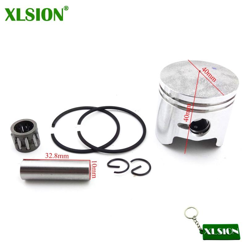 XLSION 40mm Zuiger 10mm Pin Voor 2 Takt 47cc Motor Onderdelen Chinese Minimoto Pocket Crossmotor Mini Kids ATV Quad 4 Wheeler Baby