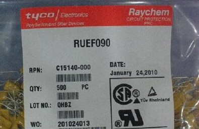 500PCS x RUEF090 UF090 0.9A 30V  PPTC Resettable fuse