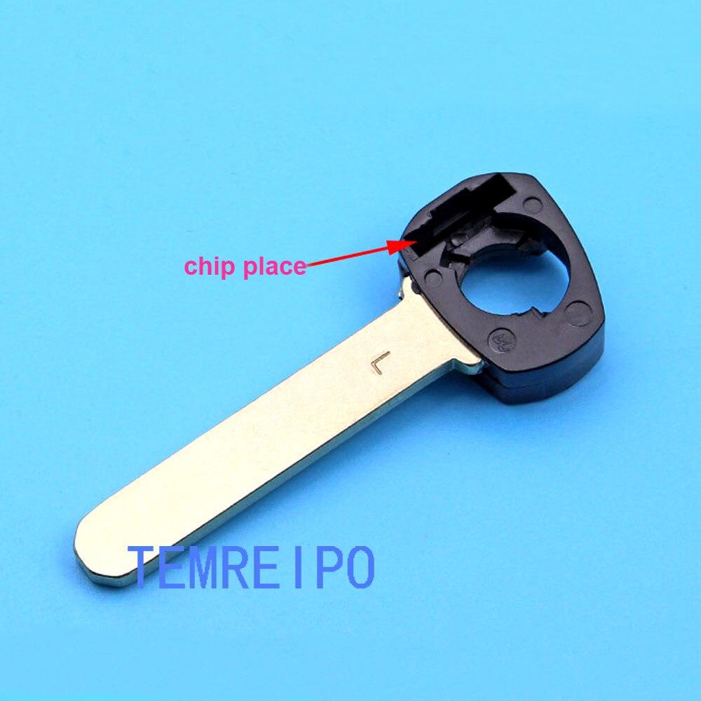 10 unids/lote llave de repuesto de emergencia de alta calidad hoja de llave inteligente para Honda para Acura flip llave remota