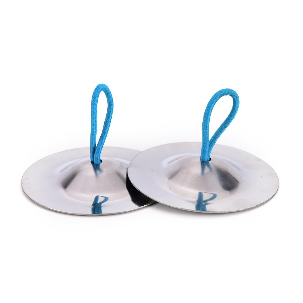 Instrumento Musical de percusión IRIN, platillos para dedos plateados para danza del vientre, piezas de instrumentos musicales y accesorios