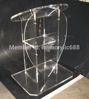 Free Shipping Popularity Heart Shape Beautiful Modern Design Cheap Clear Acrylic Lectern