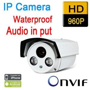 Free shipping cctv ip camera outdoor 960p 1.3mp waterproof hd p2p plug play night vision ir light onvif security seguranca