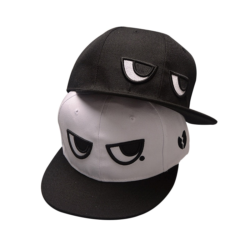 2017 Fashion Brand Snapback Caps Adjustable Baseball Cap Black White Bone Eyes Snapback Hip Hop Hat Couple Hats For Men Women