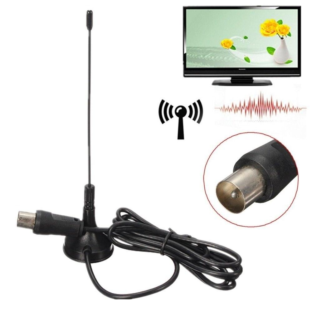 Kebidumei Mini HDTV antena interior señal de antena de receptor de 5dBi DVB-T/T2 Freeview HDTV Digital CMMB televisión receptores
