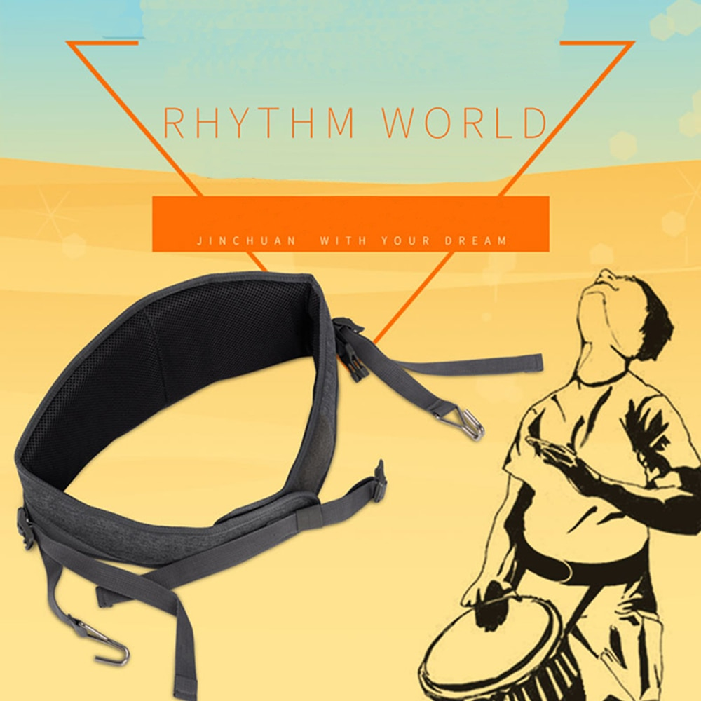 MoonEmbassy Djembe Strap Perform Practice Hand Drum Waist Straps Accesories enlarge