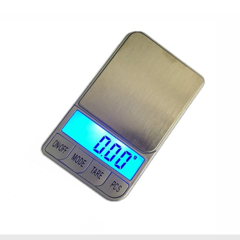 500g 0.01 Mini Digital de Bolso Jóias Escala 500g x 0.01g Eletrônico Escalas Gram Equilíbrio de Peso de Ouro + 7 unidades Com Caixa de Varejo