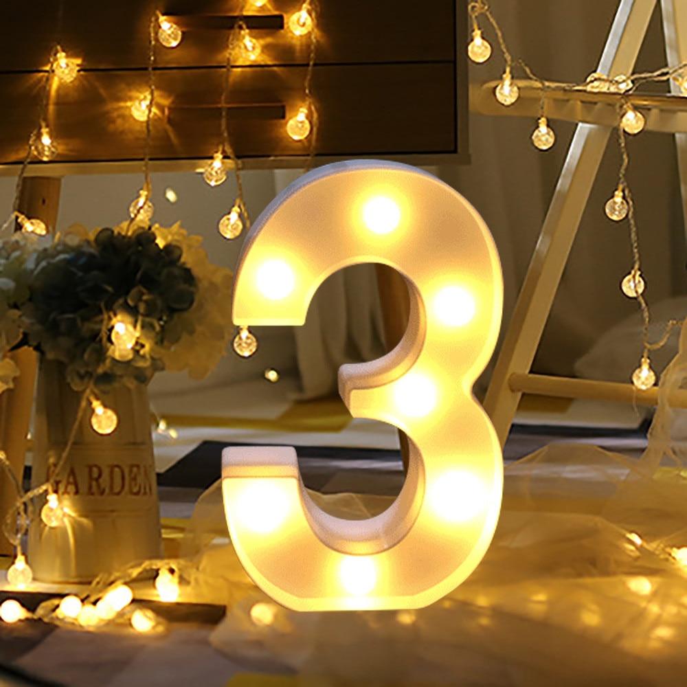 Alphabet Number Digital Letter LED Light White Light Up Decoration Symbol Indoor WALL Decor Wedding Party Window Display Light10