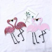 1pc Flamingo Pailletten Patch Applique Stickerei Für Kleidung Pullover T-shirt Nähen-Auf Eisen-Auf Aufkleber DIY Kleidung dekoration