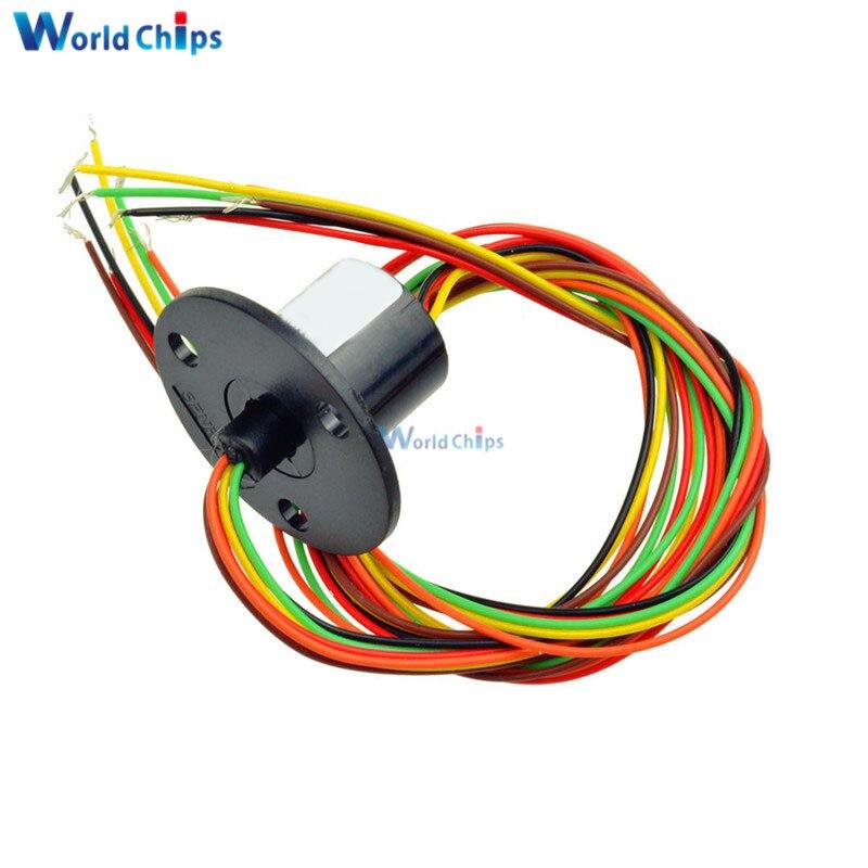 12,5mm 300Rpm 6 cables circuiitsx2a cápsula anillo deslizante AC 240V para Monitor robótico