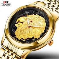 TEVISE Gold Eagle automatic watch Man Luxury Mechanical man watch 2020 Self Wind Luminous Waterproof men watches 9006