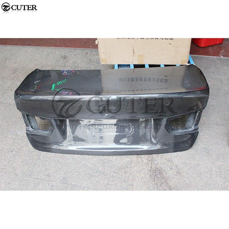 F30 3 series 320i 325i CSL estilo de fibra de carbono, tapa trasera del maletero, capó para BMW F30 330i kit de carrocería del coche 13-18