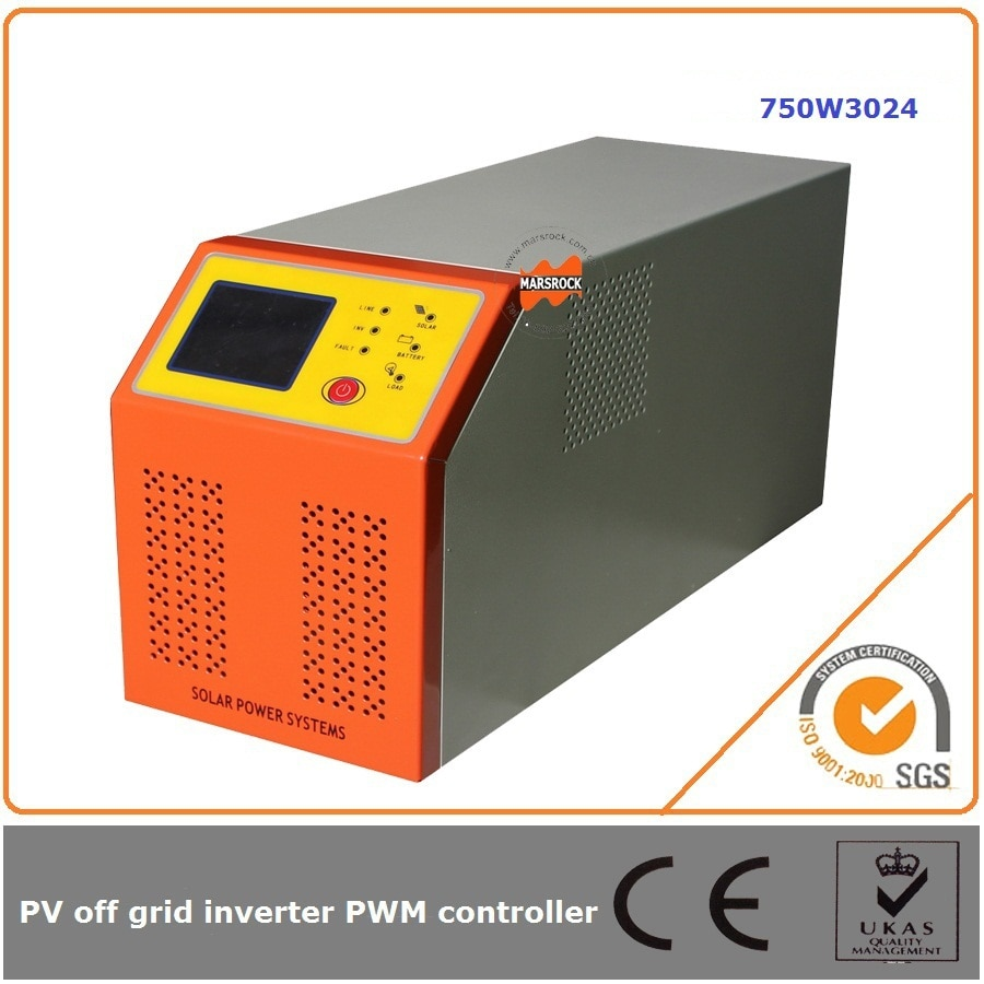 Onduleur électrique solaire 750W 24V 30A   Avec contrôleur hors grille, sortie donde sinusoïdale intelligente et adapte à tous les types de charges