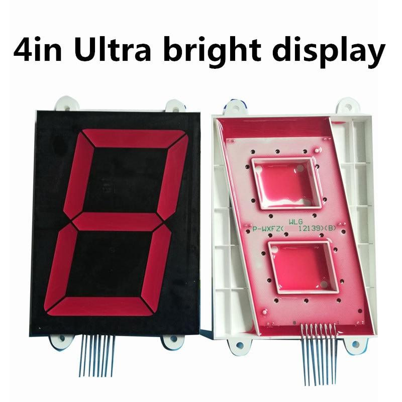 "2 pcs 4 ""4in 7 Segmento red Display LED Ânodo Comum tubo Nixie polegadas 1 4 Ultra brilhante Pouco tubo Digital de Plástico Metal 12 v"