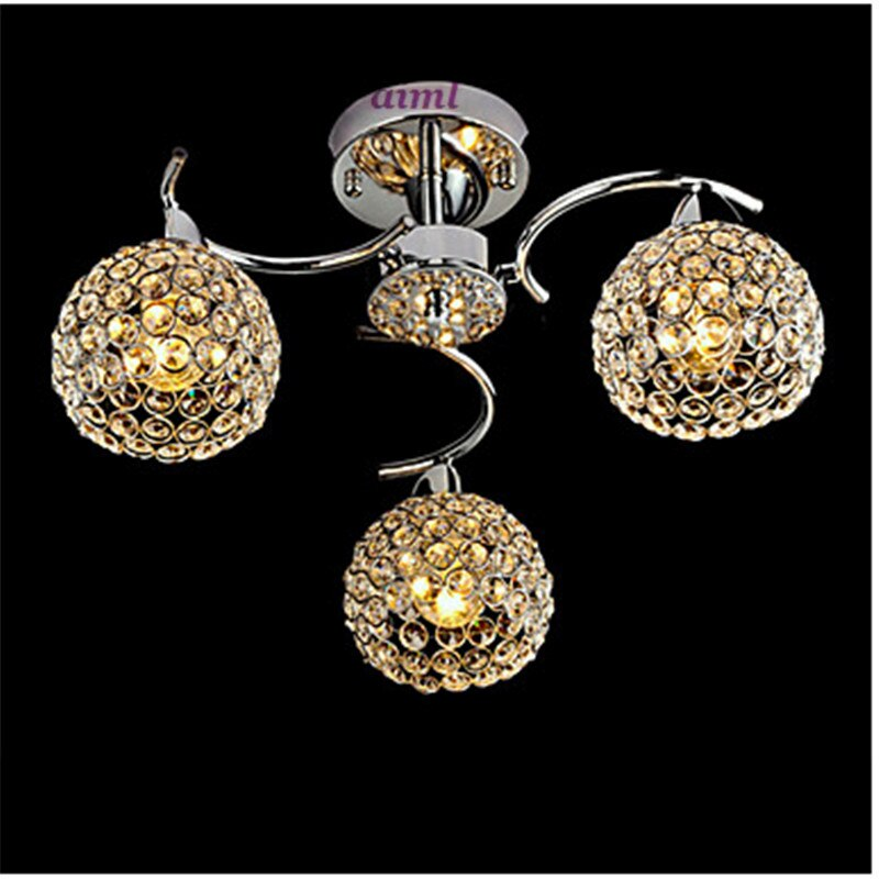 Max40W Flush Mount, Modern/Contemporary Electroplated Feature for Crystal Metal Bedroom / Dining Room / Hallway  - buy with discount