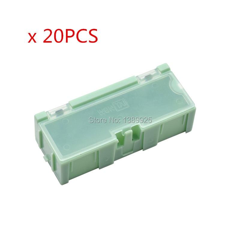 Оптовая продажа, 20 шт./лот #2, зеленый конденсатор, резистор SMT, электронный компонент, Мини ящик для хранения, практичный, для хранения ювелир...