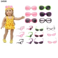 zwsisu fashion 12 pcs doll swimsuit sunglasses fit 18 inch american doll 43 cm baby doll accessories for generation girls toy