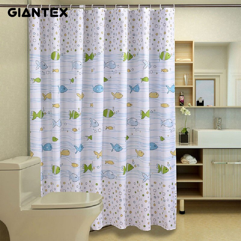 GIANTEX, motivo de peces, Cortina de baño, cortinas de Ducha impermeables para baño, Cortina de Ducha rideau de douchegordijn U1029